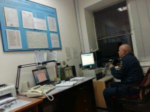 Оперативный дежурный ГО Гиниятуллин Д.Г. объявляет сбор личного состава